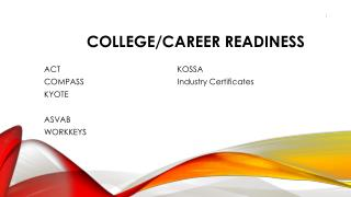 College/Career Readiness