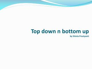 Top down n bottom up by Shinta Prastyanti