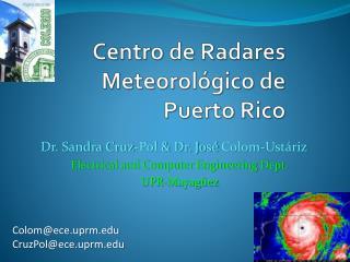 Centro de  R adares Meteorológico  de Puerto Rico