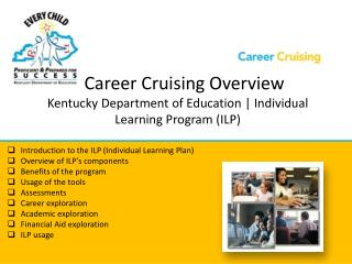 Career Cruising Overview Kentucky  Department of Education | Individual Learning Program (ILP)