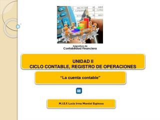 UNIDAD II CICLO CONTABLE, REGISTRO DE OPERACIONES