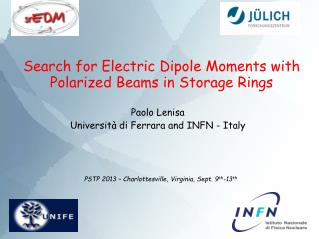 Search for Electric Dipole Moments with Polarized Beams in Storage Rings