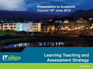 Learning Teaching and Assessment Strategy