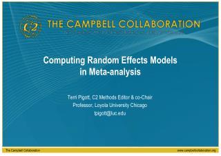 Computing Random Effects Models in Meta-analysis
