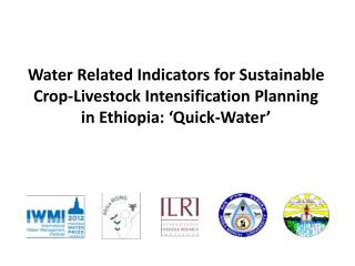Water Related Indicators for Sustainable Crop-Livestock Intensification Planning