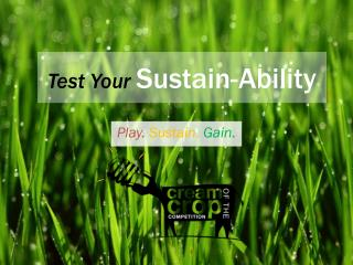 Test Your  Sustain-Ability