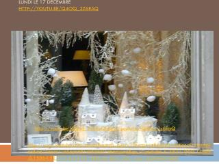 Lundi  le 17  décembre  youtu.be/Q4oq_2z6RaQ