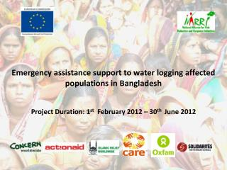 Emergency assistance support to water logging affected populations in Bangladesh