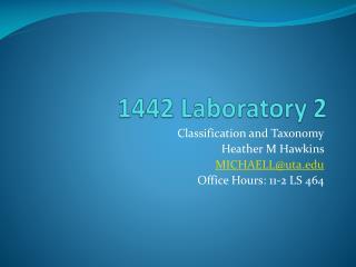 1442 Laboratory 2