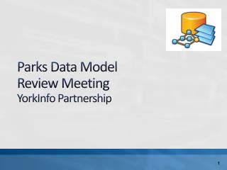 Parks Data Model  Review Meeting YorkInfo  Partnership