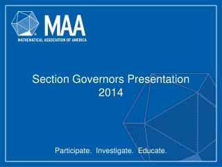 Section Governors Presentation 2014