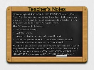 Teacher's Notes