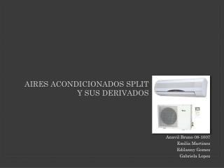 Aires  Acondicionados  split  y  sus derivados