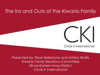 The Ins and Outs of the Kiwanis Family