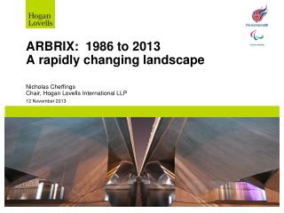 ARBRIX:  1986 to 2013 A rapidly changing landscape
