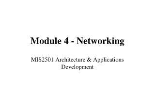 Module 4 - Networking