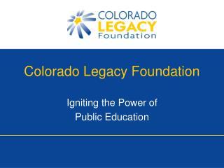 Colorado Legacy Foundation