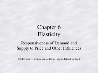 Chapter 6 Elasticity