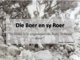 Die Boer en sy Roer