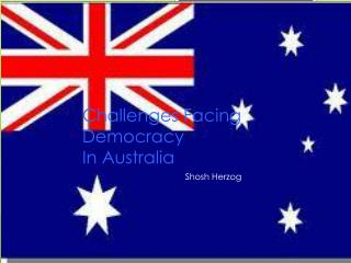 Challenges Facing Democracy In Australia