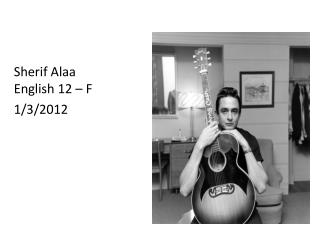 Sherif Alaa English 12 – F 1/3/2012
