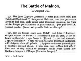 Stan = Folkstone