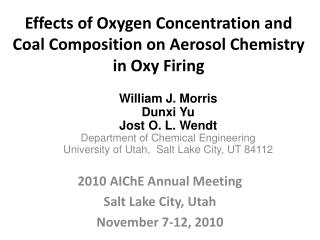 Effects of Oxygen Concentration and Coal Composition on Aerosol Chemistry in Oxy Firing