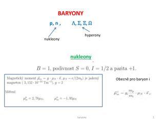 BARYONY