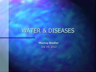 WATER & DISEASES