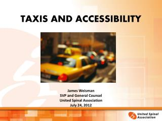 TAXIS AND ACCESSIBILITY