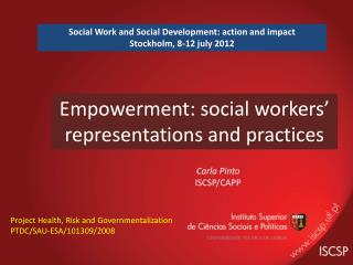 Empowerment : social  workers '  representations and practices