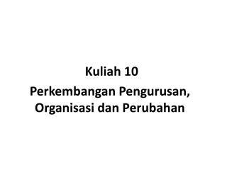 Kuliah  10