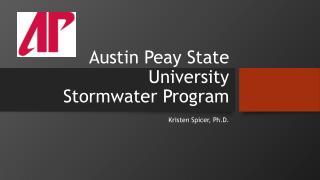 Austin  Peay  State University Stormwater  Program