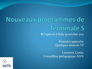 Nouveaux programmes de Terminale S