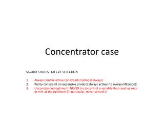 Concentrator case