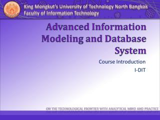 Advanced Information Modeling and Database System