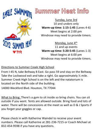 Summer Heat Info