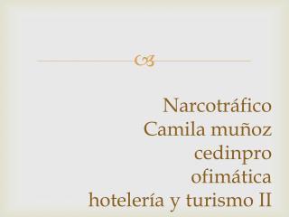 Narcotráfico Camila muñoz cedinpro ofimática hotelería y turismo II