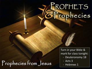 Prophecies from Jesus