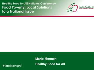 Marjo Moonen Healthy Food for All