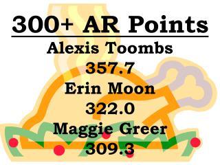 300+ AR Points