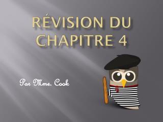 Révision du chapitre 4