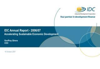 IDC Annual Report - 2006