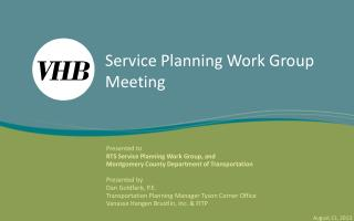 Service Planning Work Group Meeting