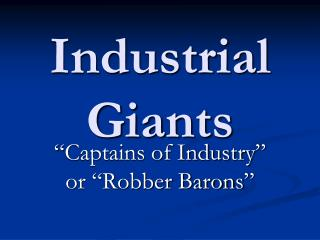 Industrial Giants