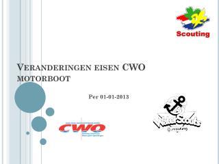 Veranderingen eisen CWO motorboot