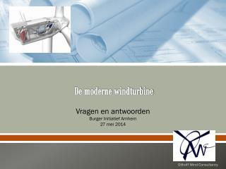 De moderne windturbine