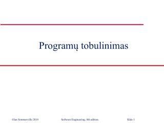 Program ų tobulinimas
