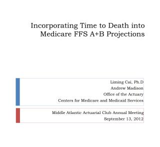 Incorporating Time to Death into Medicare FFS A+B Projections