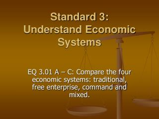 Standard 3:  Understand Economic Systems